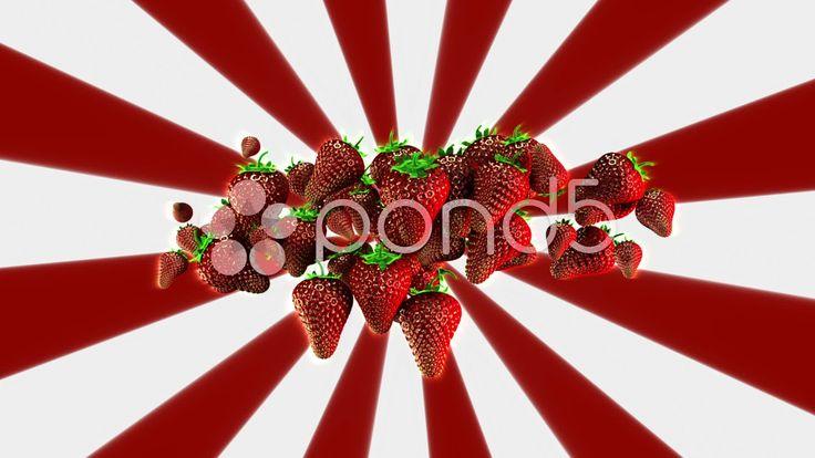 Strawberries Background Loop - Stock Footage | by maraexsoft