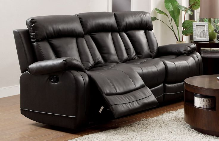 Best Homelegance 8500Blk 3 Double Reclining Sofa Bonded 400 x 300