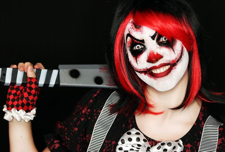 Killer Clown Makeup Tutorial | Easy Scary Clown | 31 Days of Halloween