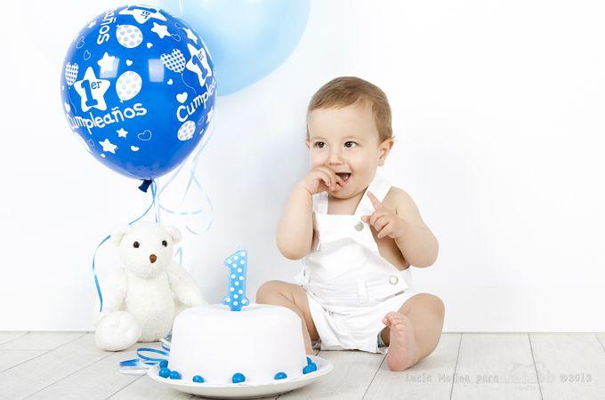 Sesi n de estudio de primer cumplea os con su tarta sus - Cumpleanos de bebes ...