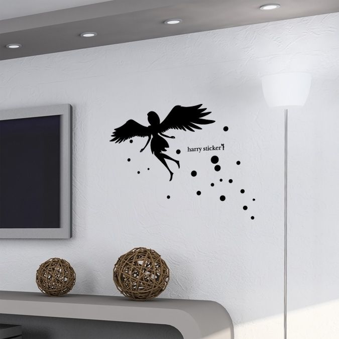 wallsticker angel-silhouette Wallpaper interior Design