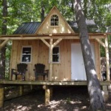 B409 12x16 Timber Frame Bunkie House Styles Cottage