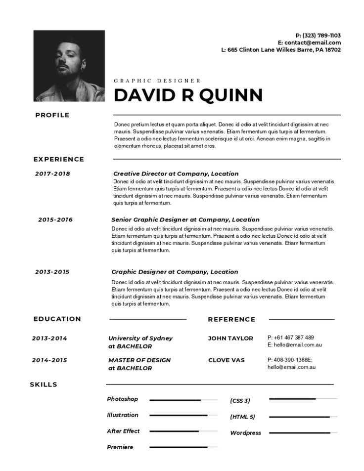 Click to design this Beautiful Resume Graphic design