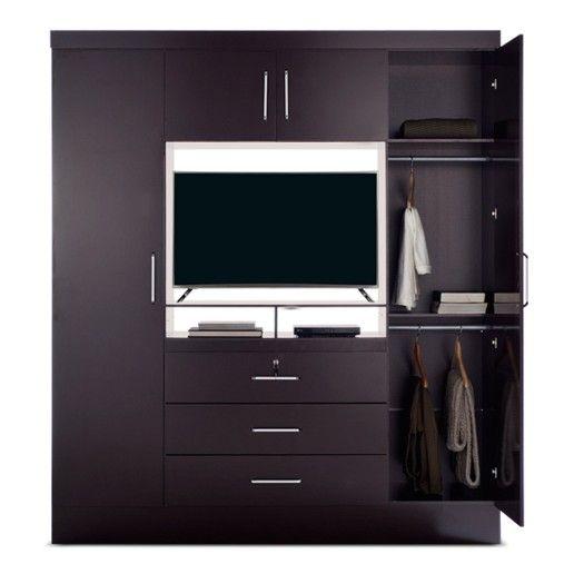 Zanzini ropero tv dvd 4 puertas 3 cajones oechsle - Roperos para dormitorios ...