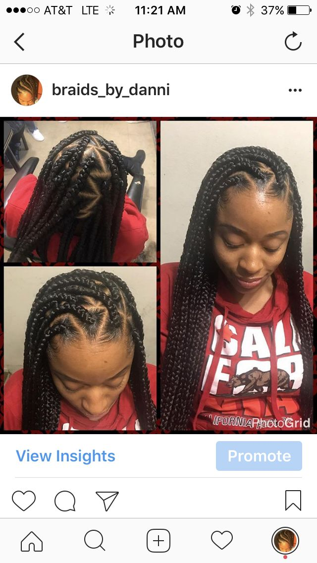 Individuals box braids black hair hairstyles cornrows bun life ponytail French braids feedin braids feed-in no knot