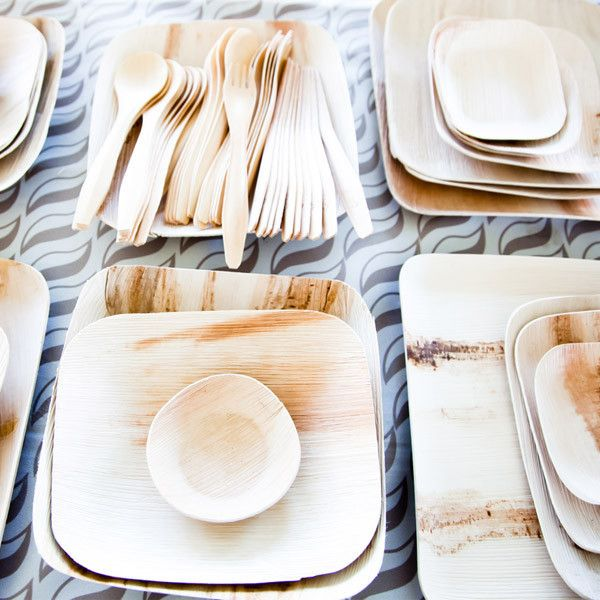 Who wants to do dishes after a party? Not me!  We found these really cool disposable plates from #VerTerra They're a company from the USA that makes dinnerware from fallen leaves.  Don't ever feel guilty again when you toss your plate away; #gogreen
