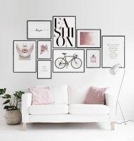 Stilvolles Typografie-Poster mit Botschaft...