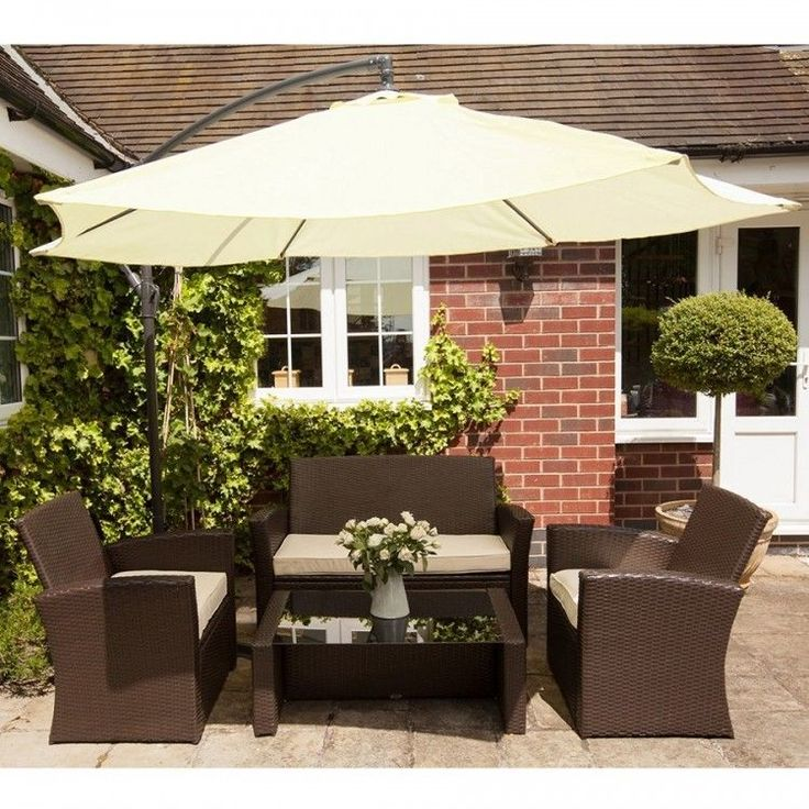 Garden Parasol Umbrella Hanging Outdoor Patio Sun Shade Structure White Canopy #GardenParasolUmbrella #HangingUmbrella