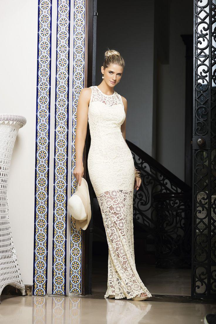 Ref. 322604: Vestido en Crochet - Ref. 302411: Calzado