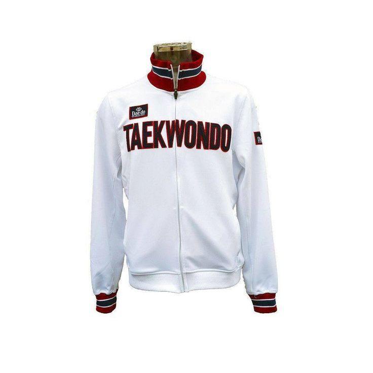 """Chaqueta Deportiva """"TAEKWONDO"""" Blanca - €45.00   https://soloartesmarciales.com    #ArtesMarciales #Taekwondo #Karate #Judo #Hapkido #jiujitsu #BJJ #Boxeo #Aikido #Sambo #MMA #Ninjutsu #Protec #Adidas #Daedo #Mizuno #Rudeboys #KrAvMaga #Venum"""