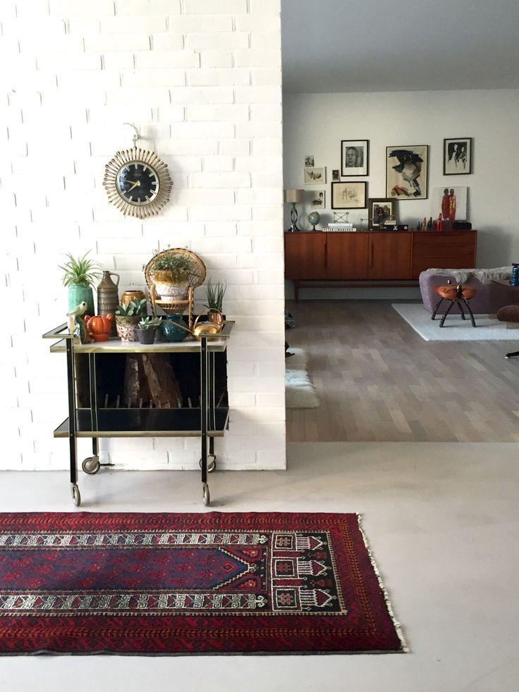 Vintage Perserteppich, Orient Teppich, Läufer, antiker Teppich, Wollteppich, Boho Chic, Vintage Interiour von moovi auf Etsy