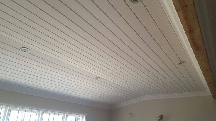 Nope. Not wood. It's IsoBoard - South African's thermal insulation board.It's perfect for exposed applications and can be painted to create a wood-like finish.