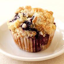 Weight Watchers - Muffins met yoghurt, citroen en bosbessen - 6pt