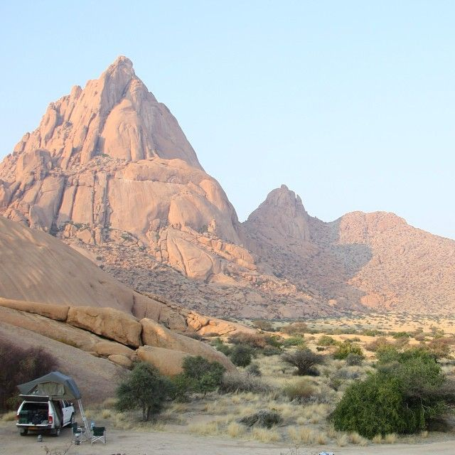 Great campsite in Spitzkoppe, Namibia