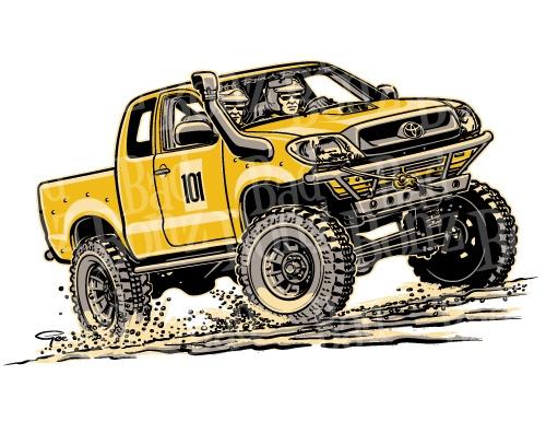 Hilux Cartoon Toyota Hilux Monster Trucks Toyota