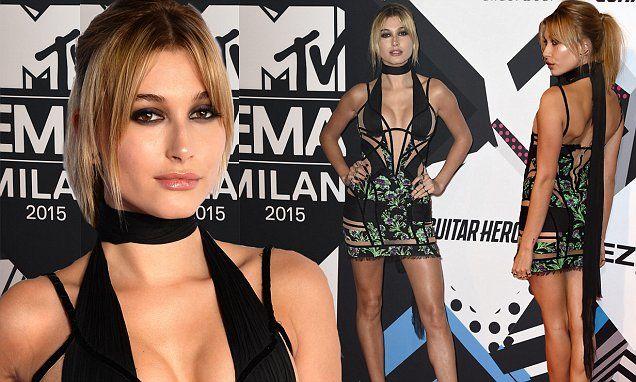 Hailey Baldwin brings model glamour to the MTV EMAs