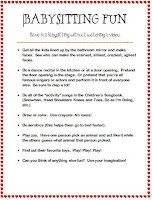 Babysitting kit info
