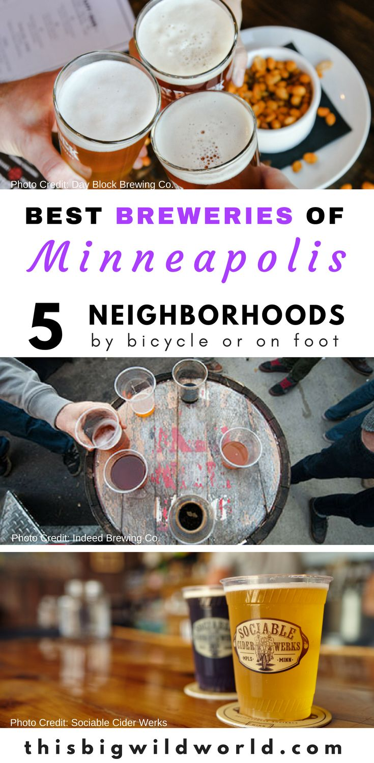Explore the best breweries of Minneapolis by bicycle or on foot. The Minneapolis microbreweries are arranged into 5 neighborhood routes for you to enjoy including Minneapolis brewery tips, transportation to the Minneapolis breweries, Minneapolis restaurants, and more!