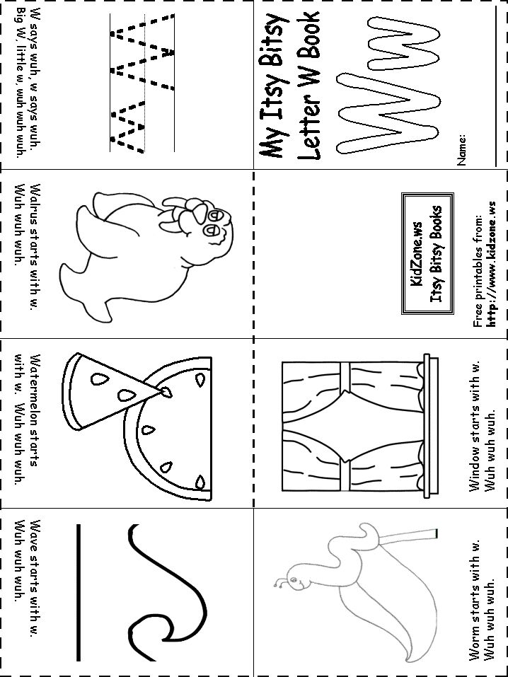 Free Tracing Letter W Worksheet Worksheets For Kindergarten