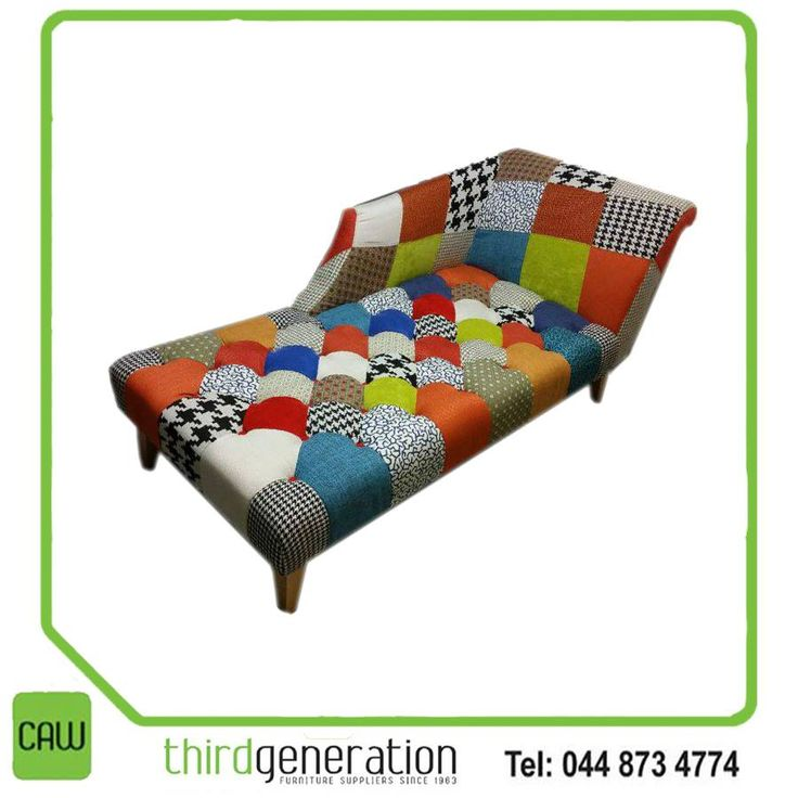 We love this stunning chaise lounge! Something different to have in your living room! Available from CAW Third Generation! #lifestyle #chaise #furniture #3rdGen
