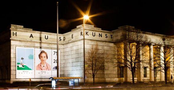 Haus der Kunst, non-collecting art museum.