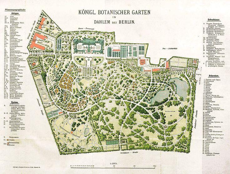 File 1909 Botanischer Garten Plan Jpg Botanical Gardens Garden Design Plans Garden Planning