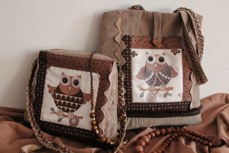 Bags with owl Created by Melinda Surányi www.melipatch.com