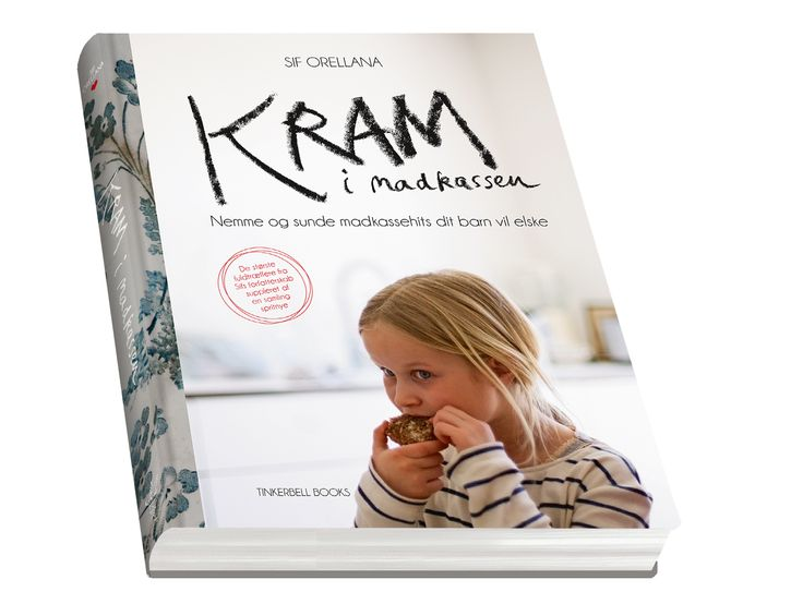 My latest book - 'Kram i madkassen' (Printed in Danish). Filled with 60 easy and tasting recipes for Children's lunch boxes)