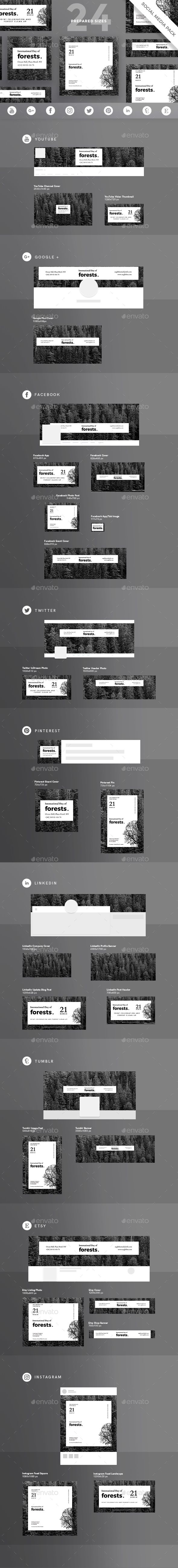#Forests Day #Social #Media Pack - Miscellaneous Social Media