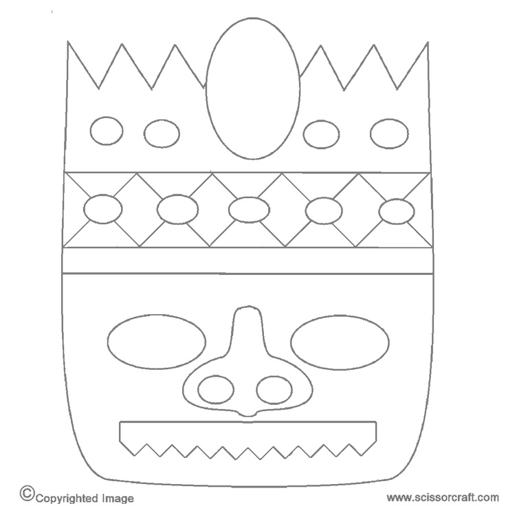 tiki masks coloring pages - photo#21