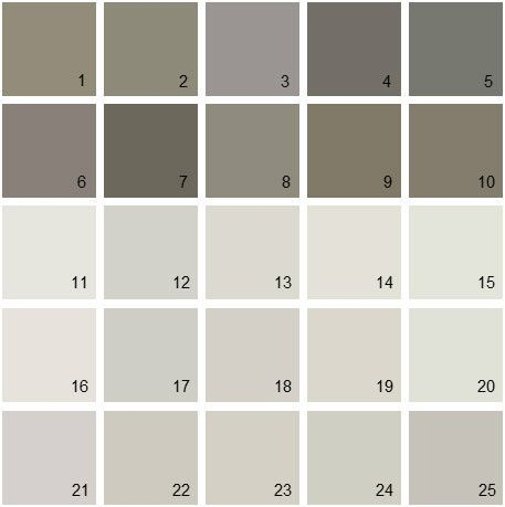 Benjamin Moore Gray House Paint Colors Palette Mode Barren Plain