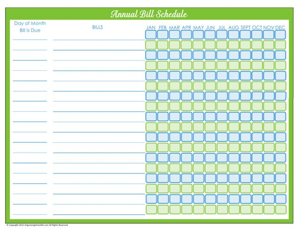 Best  Bill Payment Organization Ideas On   Organize