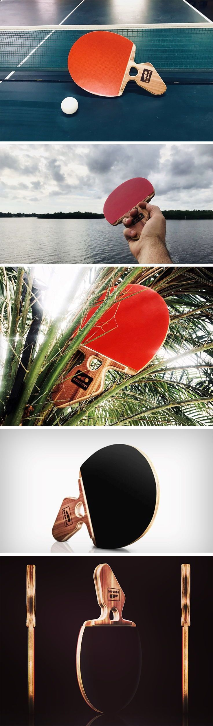 Coconut Paddles V2 gives the table tennis paddle a radical grip makeover that doesn't just encourage you to hold it the right way, but even dramatically improves your strokes, and its non-cylindrical design means it'll never slip out of your hand in the middle of a game.
