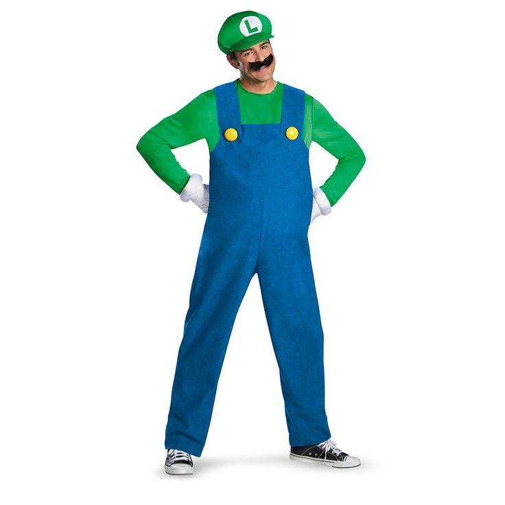 Plus Size Nintendo Super Mario Brothers Luigi Costume - Adult Plus, Men's, Green