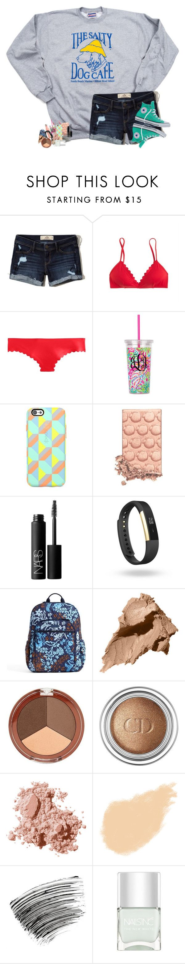 """sick"" by southernmermaid ❤ liked on Polyvore featuring Hollister Co., J.Crew, Speck, NARS Cosmetics, Fitbit, Vera Bradley, Bobbi Brown Cosmetics, Mineral Fusion, Christian Dior and Nails Inc."