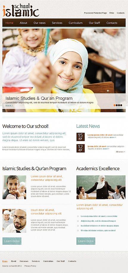 Islamic School Facebook HTML CMS Templates by Mercury