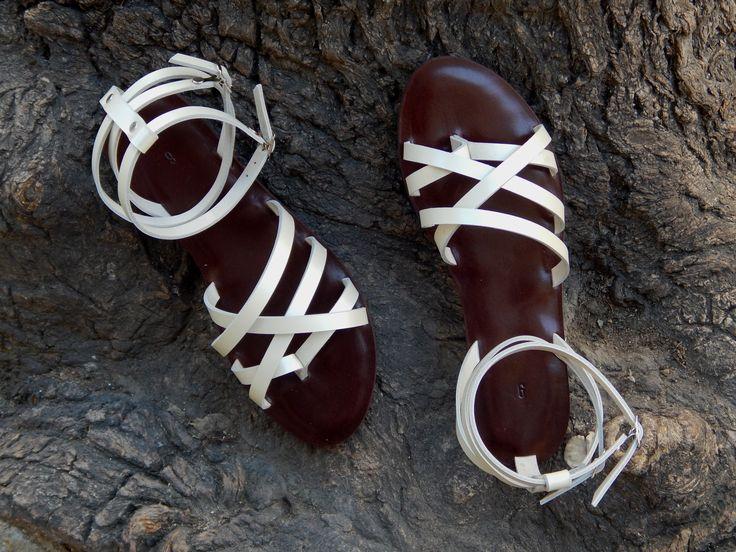 Handmade leather sandal ANTIGONE 2 ...... golden .....