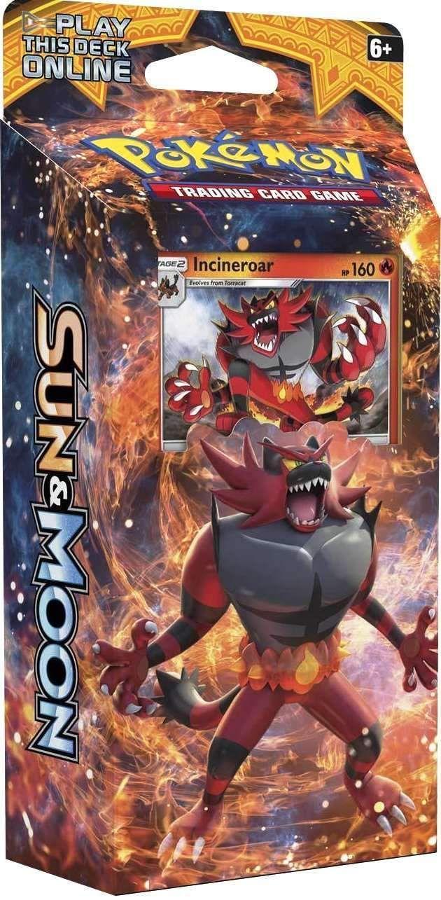 Sun /& Moon Theme Deck Pokemon TCG Roaring Heat 60 Cards+++ Incineroar