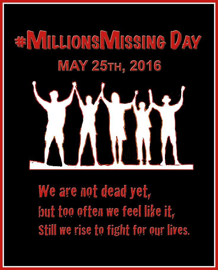 #MillionsMissing  #MyalgicEncephalomyelitis #ChronicFatigueSyndrome #MEcfs #CFS #MyE #MyalgicE #PwME #CFSME #CFIDS