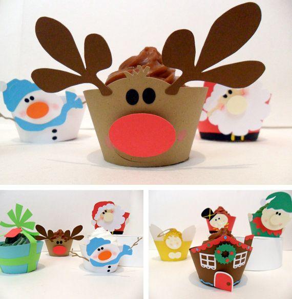 cute cupcake Christmas wraps from cakeadoodledoo (etsy)