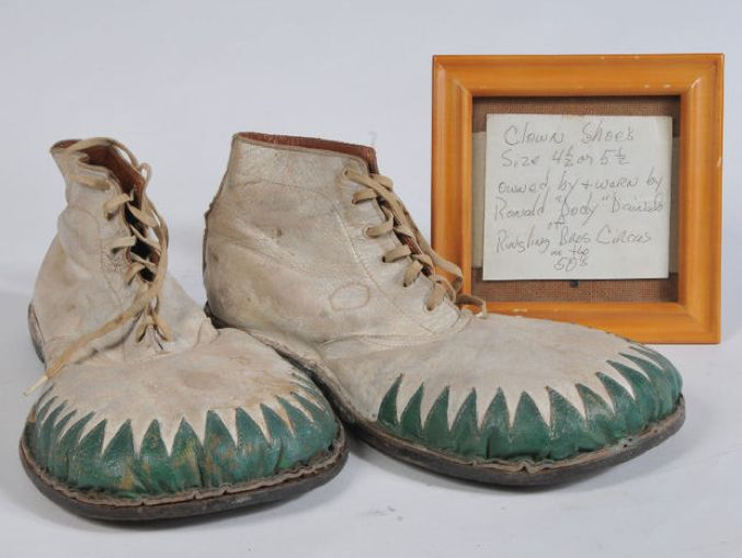 Anonymous Works-1940's clown shoes from Ringling Brothers