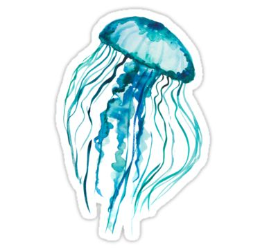 watercolor jellyfish • Also buy this artwork on stickers, apparel, kids clothes, and more.