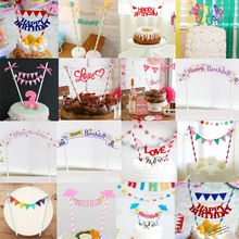 Cupcake Toppers 2016 Cute Kids Cake Topper Wedding Baby Shower Decorations Birthday Party Supplies Gift(China (Mainland))