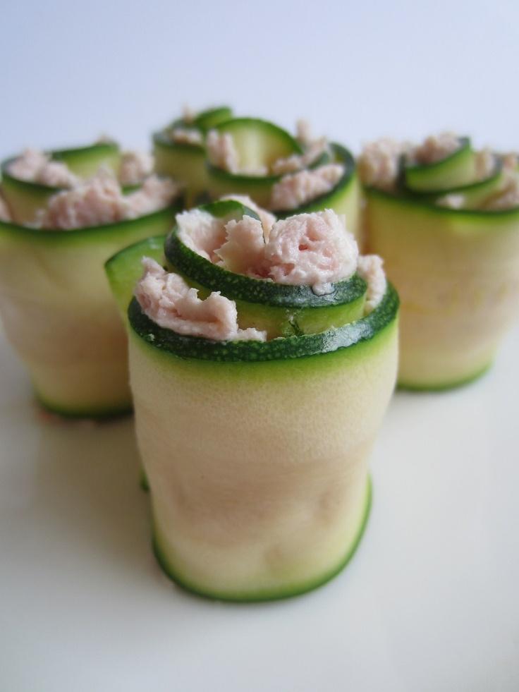 Rotolini di zucchina con mousse di prosciutto cotto