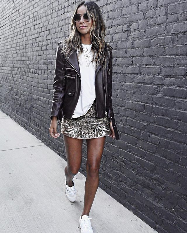 WEBSTA @ sincerelyjules - Pardon me, I'm sparkly! ✨ | wearing @reebokclassics @reebokwomen sneakers