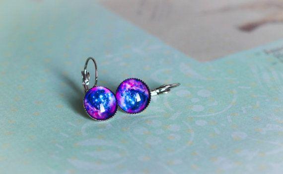 Galaxy Earring Dangle Серьги Stud Earrings by MyDayDreamsShop