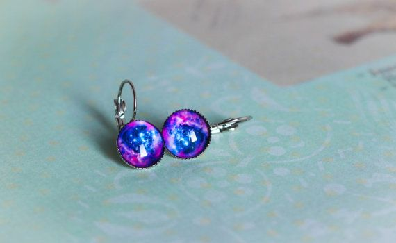 Galaxy Earring Dangle Серьги Stud Earrings by MyDayDreamsShop