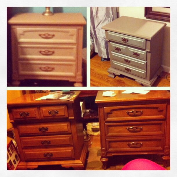Yard Sale Upcycle Bedside tables
