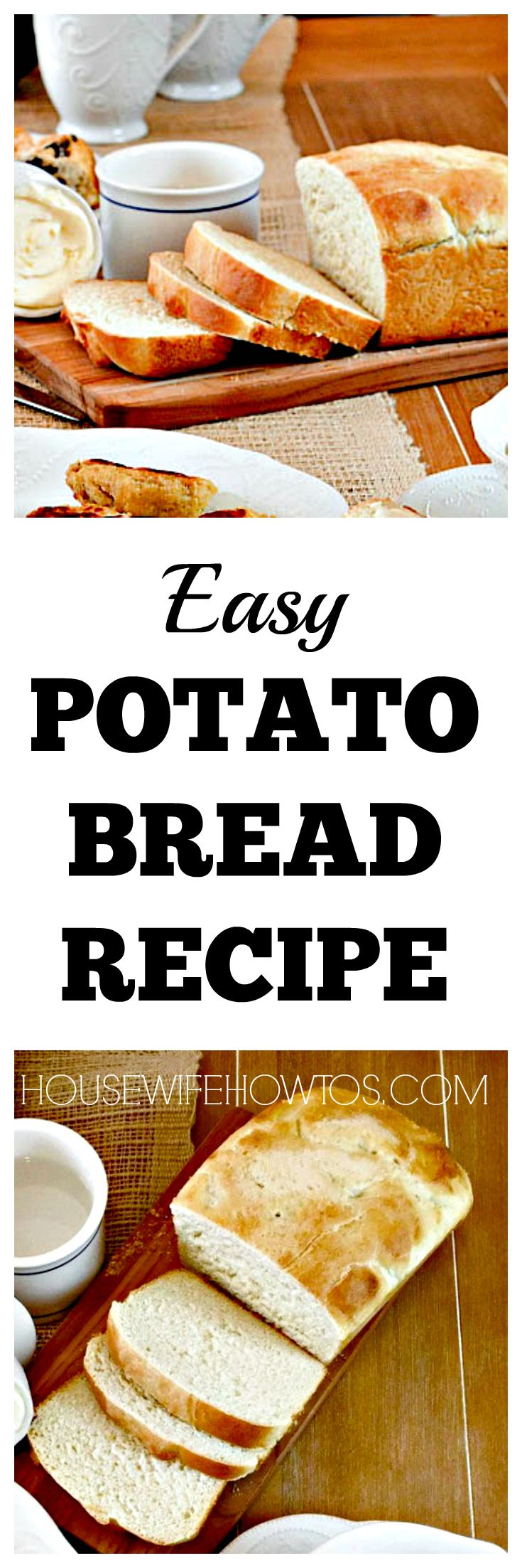 Potato Bread Recipe - Easy to make and you can keep the dough in the fridge for fresh loaves all week.