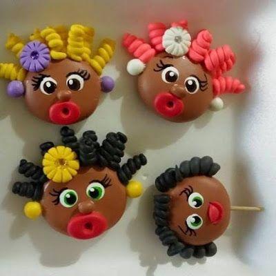 Arte em Biscuit Regiane Carolina: Neguinhas-maluquinhas e Namoradeirinhas